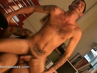Bearded Gay Bear Enjoys A Blowjob And Fucks His Bf's Ass Doggystyle